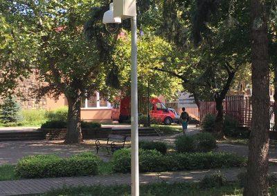 Tatabányai térfigyelő kamera Záray Márta park