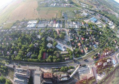 Tatabánya bánhidai erőmű légi drón kép. A felvételt a Vértesnet készítette. Tatabánya szépségei sorozat.