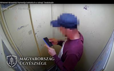 A Vértesnet társasházi kamerája buktatta le a tolvajt Tatabányán